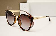 Женские солнцезащитные очки Dior 6109  цвет коричневый лео, фото 1