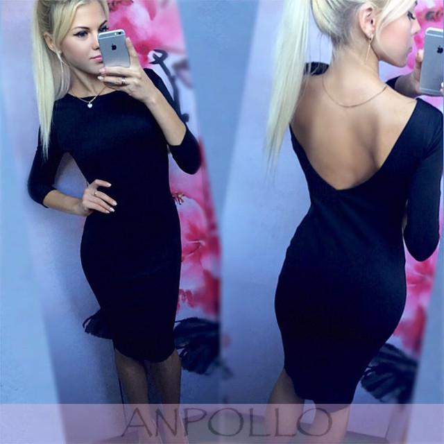 Купить платье с вырезом на спине