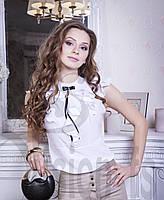 Блуза с воланами Камелия