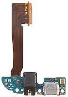 Шлейф для HTC One M8 с разъемом зарядки, гарнитуры и микрофоном
