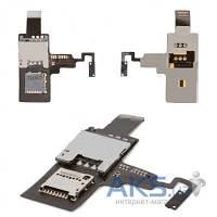 Шлейф для HTC Desire X T328e c кнопкой включения, коннектором для SIM карты и карты памяти (Original)