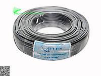 Elex черн. бел. полоса 2x7/0.12мм (2х0,08мм2)