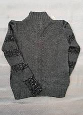 Кофта вязанная для мальчиков 128,140,152,164 роста Полоски, фото 2