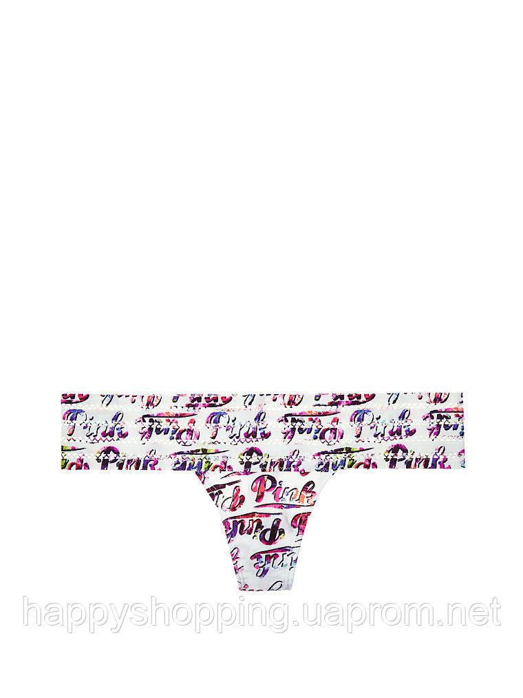 Разноцветные трусики-танга PINK by Victoria's Secret