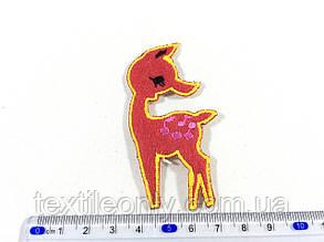 Детская нашивка олень Бэмби цвет персиковый, фото 2