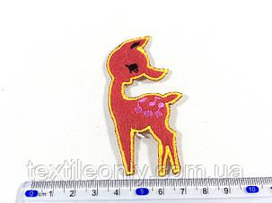Дитяча нашивка олень Бембі колір червоний, фото 2