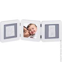 Набор Для Отпечатков Baby Art Double Print Frame white/grey (34120052)