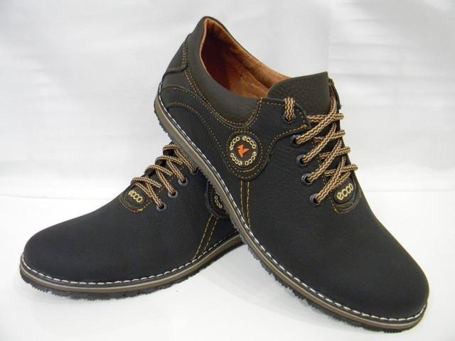 Кожаные мужские туфли Ecco model №1comfort чёрно-коричневые из натуральной  кожи !!! РАЗМЕРНАЯ СЕТКА  40 р-р - 27 см ( длина внутри обуви ) 41 р-р -  27.5 см ... 247782f977a
