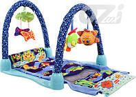 Детский игровой коврик-туннель 2в1 Подводный мир