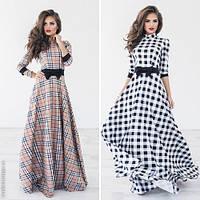 Стильное женское платье в пол с принтом / Украина / трикотаж