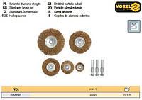 Набор щетка крацовка плоская 5 шт VOREL-06990