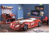 Кровать-машина Форсаж (Red), фото 1