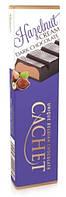 Шоколадный батон Unique Belgian Chocolate CACHET Hazelnut Cream Dark Chocolate с ореховым кремом, 75 г