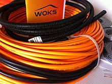 Тонкий нагревательный кабель под плитку Woks-10