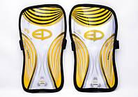 Щитки футбольные Europaw желтые на резинке