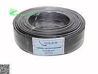 Elex черн. бел. полоса 2x7/0.19мм (2х0,2мм2)