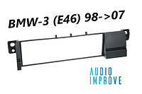 Переходная рамка 1din BMW-3 (E46) 98->07
