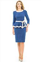 Женское платье с баской под пояс