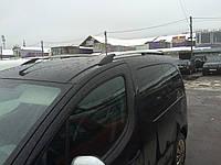 Рейлинги Peugeot Partner Tepee, Пежо Партнер 2008 - хром (пластиковая ножка)