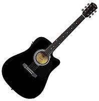 Гитары Fender Squier SA-105CE Black
