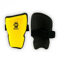 Щитки футбольные детские Europaw желтые на резинке M