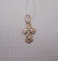 Золотой Крестик белое и красное золото (ДКР49)