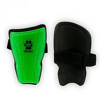 Щитки футбольные детские Europaw зеленые на резинке M