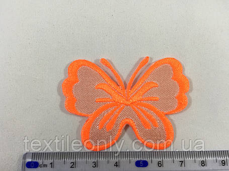 Нашивка метелик колір яскраво помаранчевий, фото 2