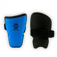 Щитки футбольные детские Europaw синие на резинке M