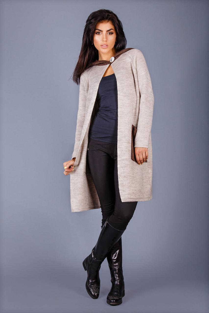 631a1b9ab768 Пальто-кардиган с карманами контрастного цвета: продажа, цена в ...