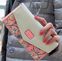Стильный женский кошелек Love Is розовый
