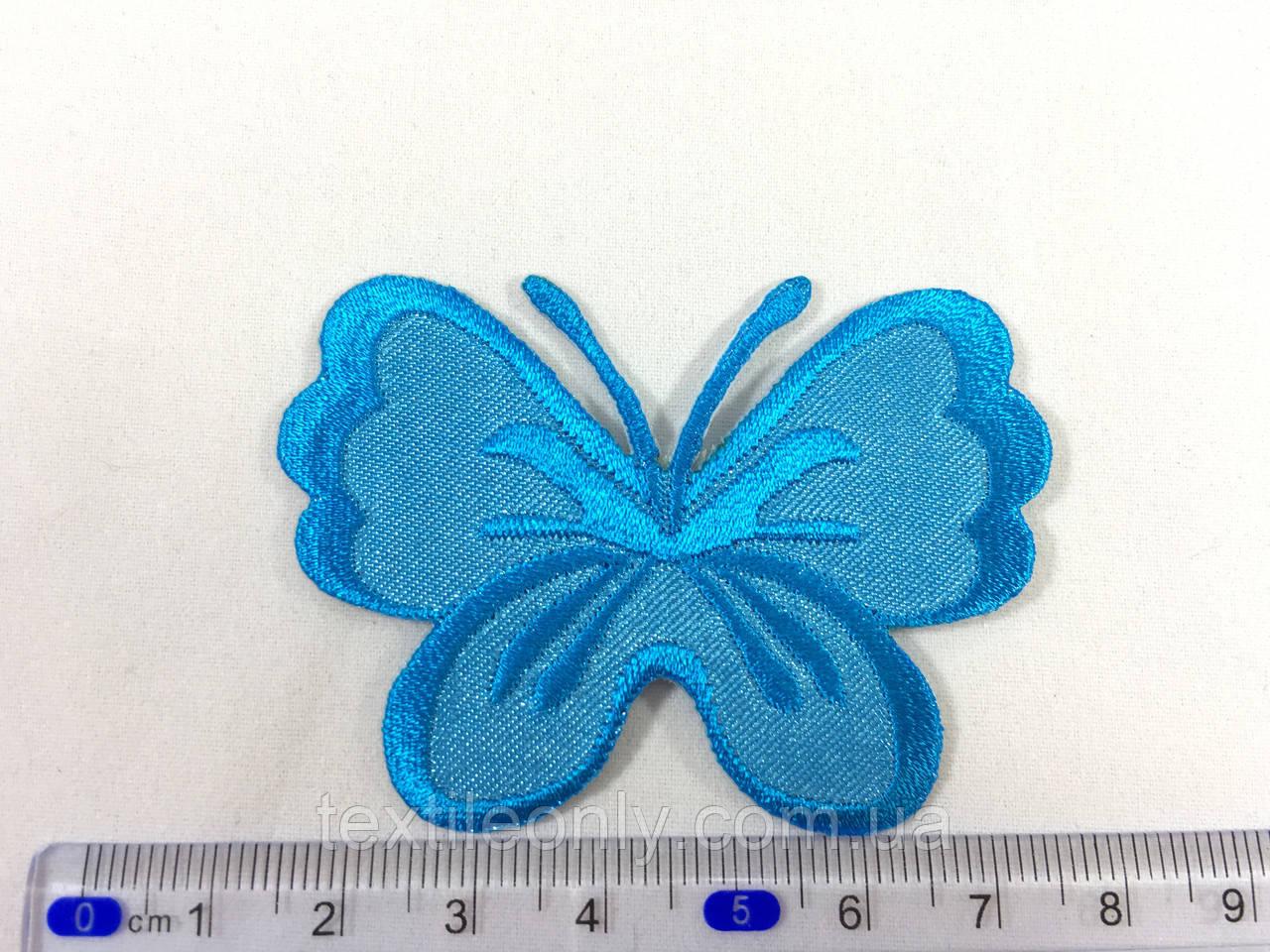 Нашивка метелик колір синій