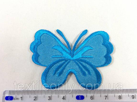 Нашивка метелик колір синій, фото 2
