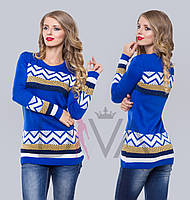 Свитер женский с орнаментом  W11-H8 магазин свитеров и кофт