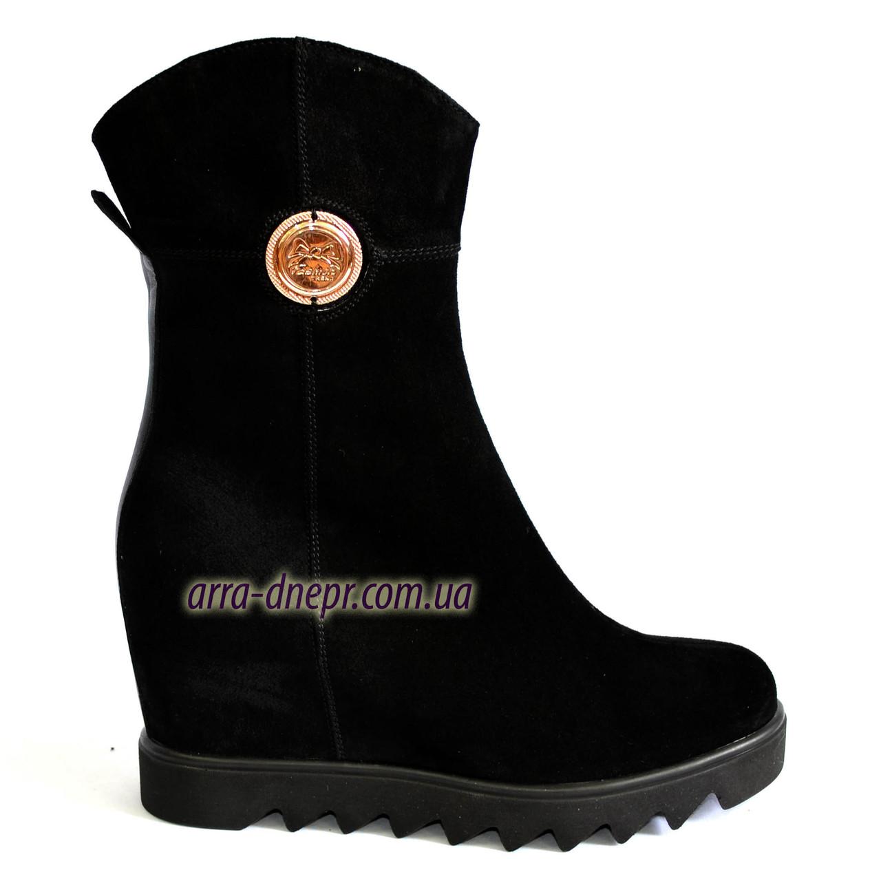 Стильные ботинки женские на платформе. Зимний вариант