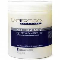 Интенсивный уход для сухих и поврежденных волос с экстрактом миндаля и медом 1000 мл Tico Expertico