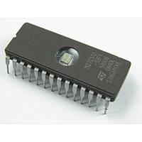 Стираемая программируемая ПЗУ M27C512-12F1, (EPROM 64kx8) CDIP28