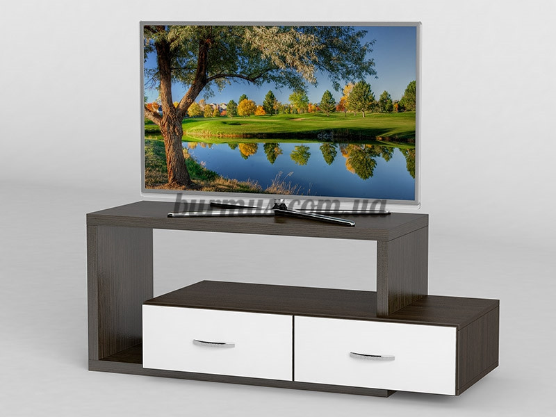 ТВ-Тумба с ящиками АКМ-256 Венге магия + Белый