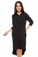 Платье-рубашка Шлейф р. S;М; L черный