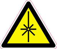 Наклейка: Осторожно излучение лазера 150х130