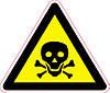 Наклейка: Опасно. Ядовитые вещества 150х130