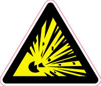 Наклейка: Взрывоопасно 150х130