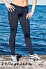 Синие женские спортивные лосины для фитнеса