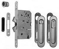 Ручки для раздвижных дверей с механизмом WC AGB B02923.50.34 Scivola-ТТ, матовый хром