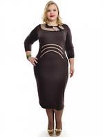Женское  Платье прямое арт 530 (2 цвета)  (48-62)