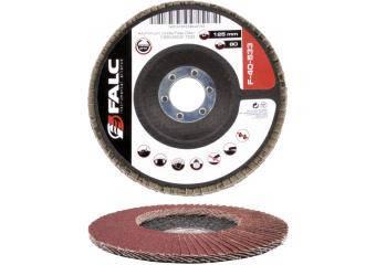 Круг лепестковый шлифовальный торцевой, 125мм, P40 выпуклый профиль Falc F-40-531, фото 2