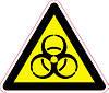 Наклейка: Осторожно. Биологическая опасность 150х130