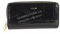 Кожаный черный женский кошелек барсетка на две молнии SALFEITE art.2547T-E96