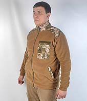 Флісова  камуфляжна кофта  - Койот