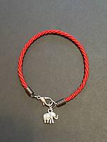 """Браслет красная нить с талисманом """"Слоник""""- символ благополучия,здоровья процветание..."""